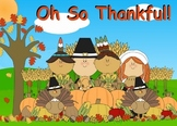 Happy Thanksgiving Koosh Ball Game for the SMARTBoard