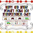 Happy and Bright Primary Polka Dot Transportation Chart