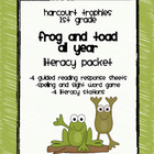 Harcourt Trophies &quot;Frog and Toad All Year&quot; Literacy Packet