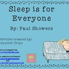 Harcourt Trophies ~ Sleep is for Everyone story activities