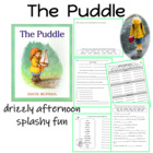 Harcourt Trophies The Puddle Center Packet