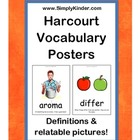 Harcourt Vocabulary Posters - Kindergarten