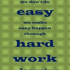 Hard Work and Learning Poster