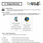 Hardware - Output Devices