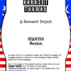 Harriet Tubman Spanish Research: Sentence Stem and Cloze Activity