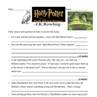Harry Potter & the Half-Blood Prince TEST & ANSWER KEY