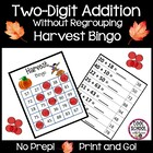 Harvest Bingo - Double Digit Addition  {Print &amp; Go!} - (Co