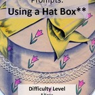 &quot;Hat Box&quot; Writing Creative Prompts Ready to Use Cards