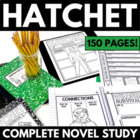 Hatchet - Complete 90 Page Novel Study with Questions and