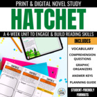 Hatchet Novel Study Trifold Set