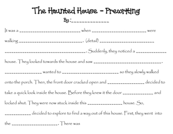 Haunted House - Creative Writing Story