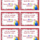 """Have a Ball"" End of the Year Gift Tag"