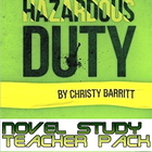 Hazardous Duty teacher packet I for a novel unit /book club