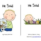 """He Said"" High-Frequency Word Book and Writing Prompt"
