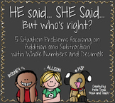 He Said / She Said: Common Misconceptions with Addition an