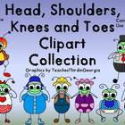 Head, Shoulders, Knees, and Toes Clip Art Collection- Kook