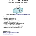 Health &amp; Nutrition Math and Literacy Activity Bundle