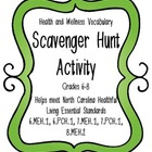 Health and Wellness Vocabulary Scavenger Hunt