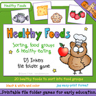 Healthy Foods File Folder Game Download