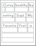 Healthy Habits: Sentence Prompts (3) with rubric (differen