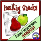 Healthy Snack Suggestions Handout