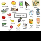 Healthy packed lunch box word mat