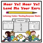 Hear Ye! Hear Ye!  Lend Me Your Ears!  Listening Center Re