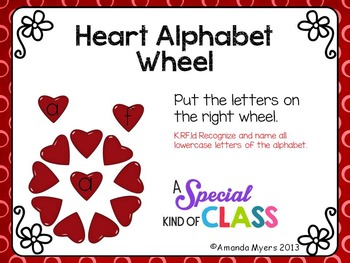 Heart Alphabet Match Spinning Wheel