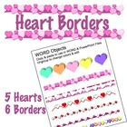 Heart Borders &amp; Clip Art - PNG files &amp; editable WORD file