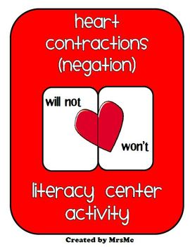Heart Contractions (Negation) Literacy Center