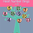 Heart Number Bingo