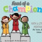 Winter Olympics Math & Literacy Printables ~ Heart of a Champion