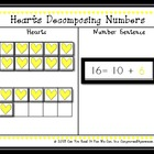 Hearts Decomposing Numbers 11-19 Center Game