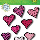 Hearts for Valentines Day Clip Art