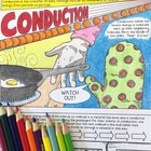 Heat and Temperature: Conduction Coloring Page