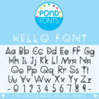 Hello Font - Font for Commercial and Personal Use