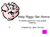 Help Piggy Get Home Phonics Game