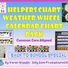 Helpers Chart Weather Wheel & Calendar Pocket Chart Pack