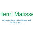 Henri Matisse Power Point Assessment