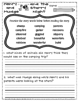 Henry and Mudge Guided Reading Resource Packet