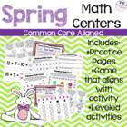Here Comes Peter Cottontail {12 CCSS Spring Themed Math Centers}