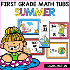 Here Comes Summer-First Grade Common Core Math Tubs