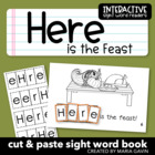 "Interactive Sight Word Reader ""Here is the Feast"""