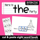 """Interactive Sight Word Reader """"Here is the Party"""""""