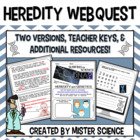 Heredity DNA Genetics traits webquest 6 7 8 9th grade juni