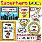 Labels - Superhero Kids - 200 Editable Labels for Jobs, Bi