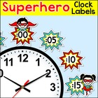 Labels - Superhero Kids Theme Clock Labels and Student Worksheets
