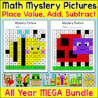 Hero Mystery Math Pictures Worksheets
