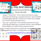 Hey, Hey, Look at Me  and Seesaw Lesson Bundle