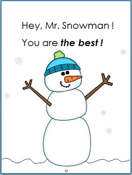 Hey, Mr. Snowman!: Book & Coordinating Literacy Center Activities